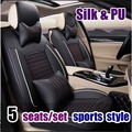 2016 new arrival 5 pieces / set high silk texture of material car seat cover four seasons car seat covers comfortable