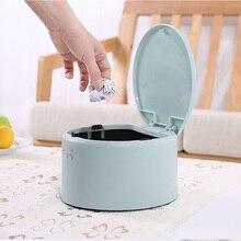 цена на Home Trash Bin Car Garbage Can Rubbish Pressing Type Dust Case Holder Bin Office Bathroom Storage Bucket Accessories