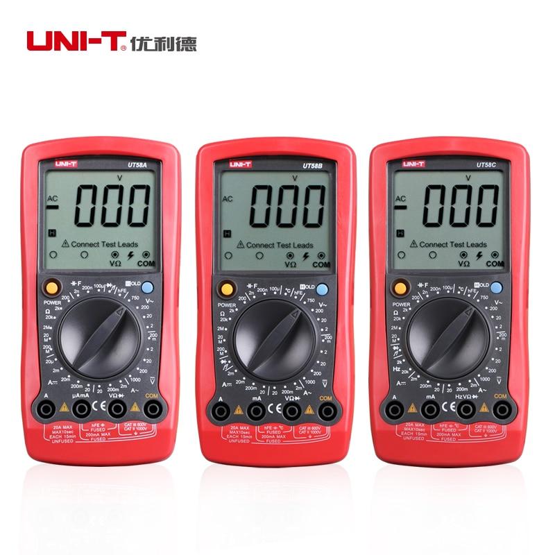 Aletler'ten Multimetreler'de UT58A UNI T Modern dijital multimetreler ut58a UT 58A + kayıt ücretsiz kargo title=