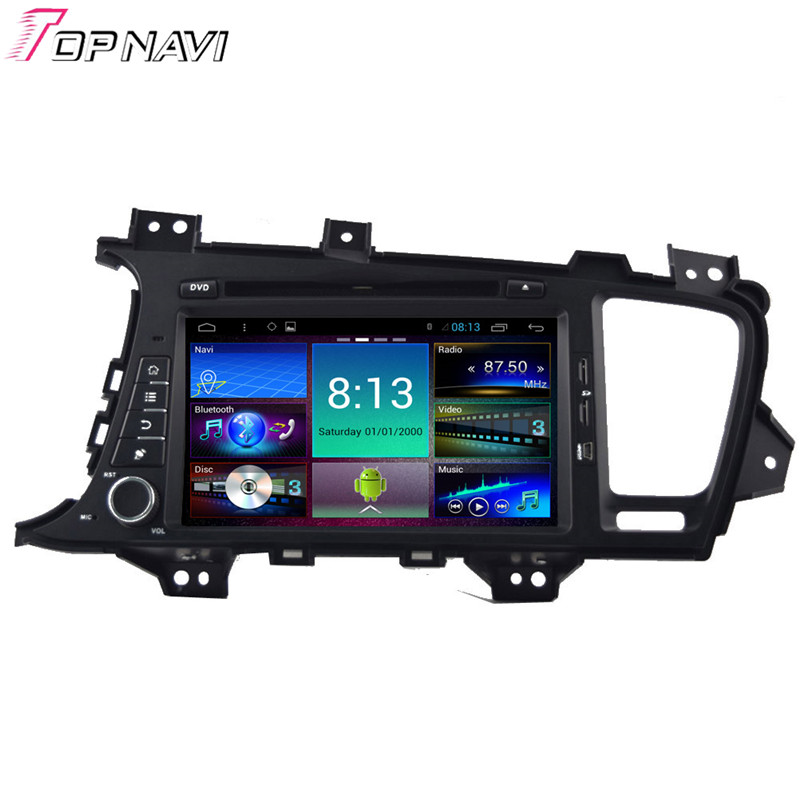 Top 8'' Quad Core Android 4.4.4 Car Stereo For KIA K5 With GPS Radio DVD Audio Video 16GB Flash Mirror Link Free Shipping