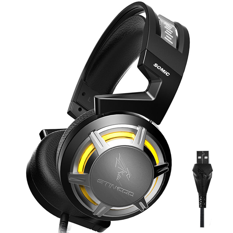 Brand Somic USB Gaming Headphone Over-ear Headset Earphones Headband with Mic Microphone PC Bass Stereo Laptop Computer G926 computer earphones with microphone gaming headset over ear stereo bass gaming headphone with noise isolation mic pc gamer tw