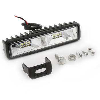 1 Piece 48W 16 LED Work Light 12V Driving Fog Aluminum Lamp Bar 6000K For Jeep SUV Truck Tractor Boat Trailer Car-styling