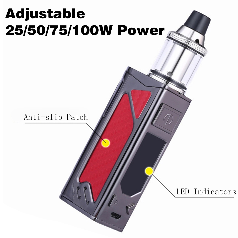 DOTENT 100W Electronic Cigarette Starter Kit 2200mAh Built-in Battery 3.5ml Tank 0.3ohm Atomizer 510 Thread Top Air Intake Vape