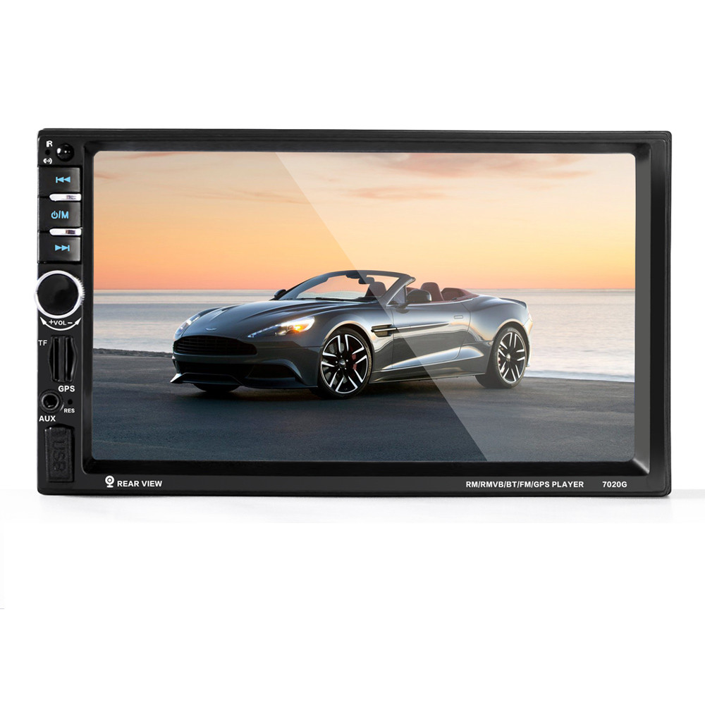 7'' HD Bluetooth Touch Screen Car GPS Stereo Radio 2 DIN FM/MP5/MP3/USB/AUX Fashion Item 17Sept14 7021g 2 din car multimedia player with gps navigation 7 hd bluetooth stereo radio fm mp3 mp5 usb touch screen auto electronics