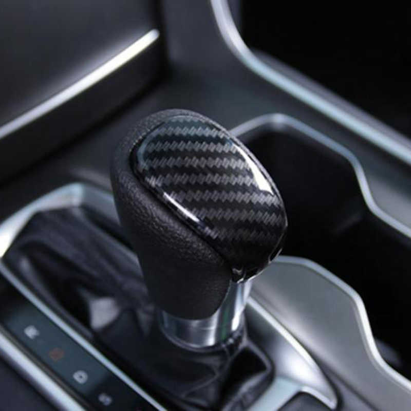 Untuk Honda Accord 2018 2019 Carbon Fiber Style Antar Gear Shift Knob Cover Trim
