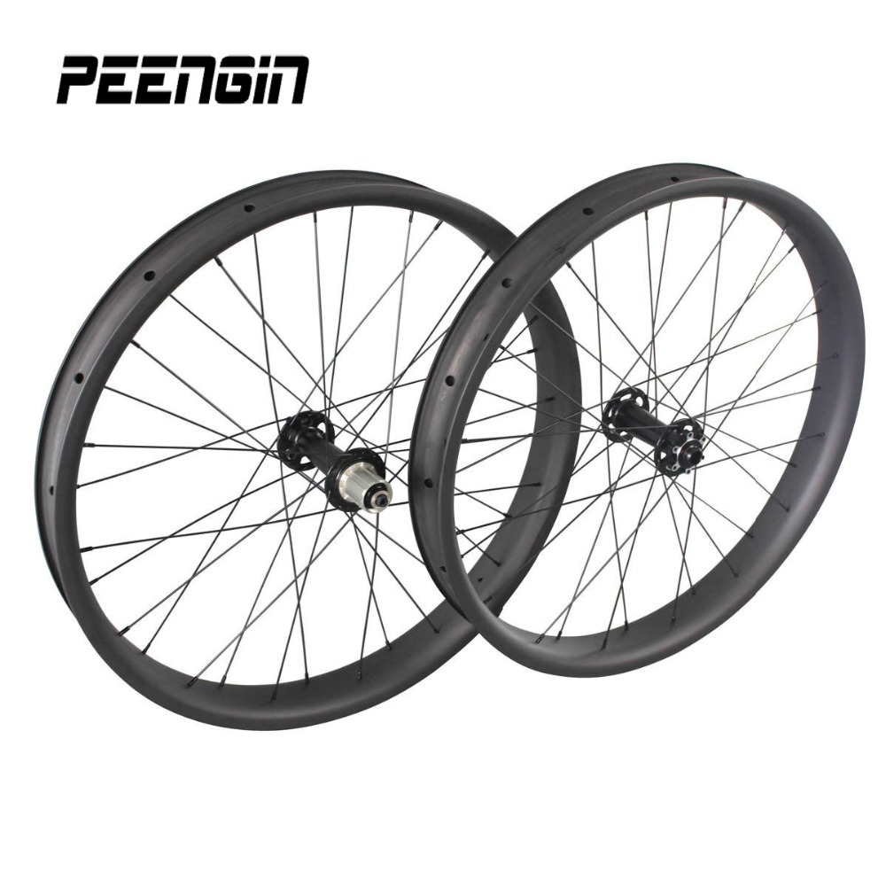 26er Fatbike Wheelset Clincher Full Carbon 65mm Rim wide 3232H 13519711mm