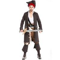 New Fashion Deluxe Partito Uomo di Alta Qualità Pirati Cosplay Pirata Cintura Copricapo Costume per Halloween Carnival A155820
