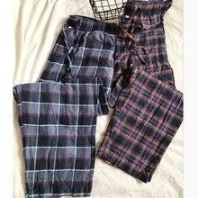Trousers Pants Sleep-Bottoms Men Cotton Home Sanding's Casual