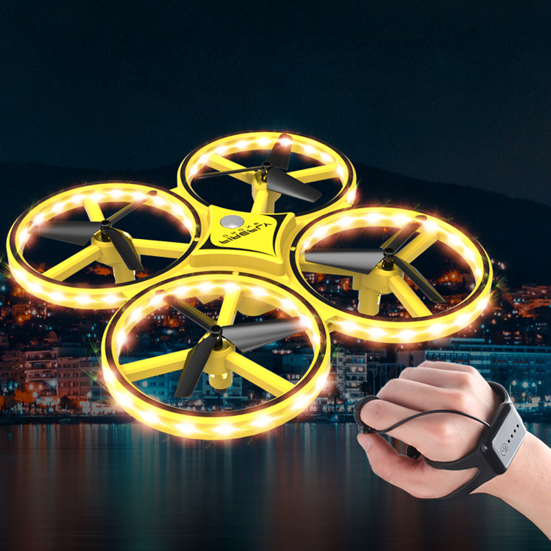 RC Drone Quadcopter Hand Induction Altitude Hold Gravity Sensor Infrared Obstacle Avoidance 2.4G Remote Control Quadcopter ZF04