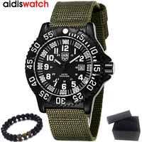 男性腕時計トップの高級ブランド AIDIS ファッションスポーツ陸軍腕時計メンズ防水クォーツ腕時計レロジオ Masculin 男性時計