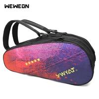 Double layer Tennis Bag Racquet Sport Backpack Large Colorful Pattern 7 Pcs Tennis Racket Bags Badminton Raquette Design