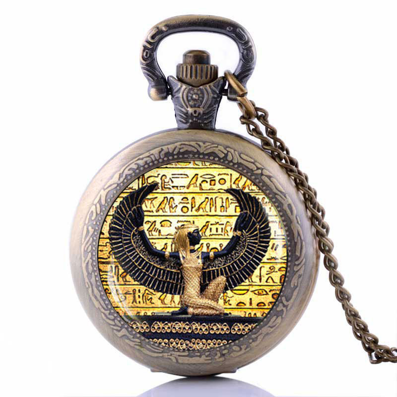 Egyptian Goddess Pocket Watch Necklace ancient egypt jewelry Egyptian chokers necklaces for women 2016