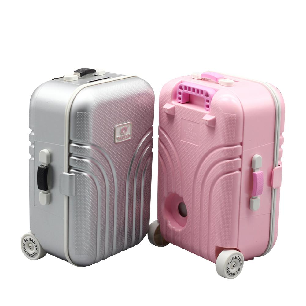 18 American Girl Doll Toy Trunk New Travel Set Suitcase For 18 Inch American Girl Doll Accessories Gift Pink & Silver for lexmark cx510de toner cartridge chip kcmy set