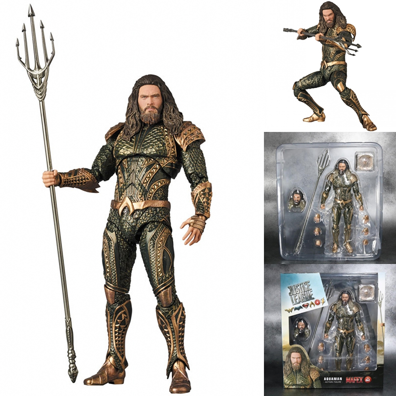 2018 New DC Justice League Super Hero MAFEX Aquaman 061 Action Figure Model Toy Doll Gift