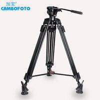 Cambofoto Professional Aluminum Portable Video Tripod with Hydraulic Head Digital DSLR Camera Stand tripod better than manfrotto