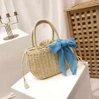 beach bag round Rattan Bag circle straw totes basket bag women summer handmade handbag 2018 Boho high quality drop shipping