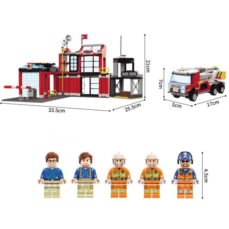 ENLIGHTEN-City-Police-Dog-Firefighter-Rescue-Fire-Station-truck-Car-Train-Building-Blocks-Sets-Kids-Toys (1)