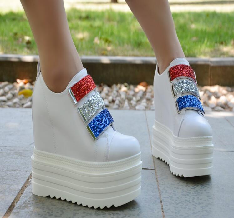 Modèles Paillettes Automne 2 Chaussures Muffin De Et D'hiver Femmes Coréennes Avec Plate Cales 1 Pour forme Étanche Augmenté rAgYxtqAw
