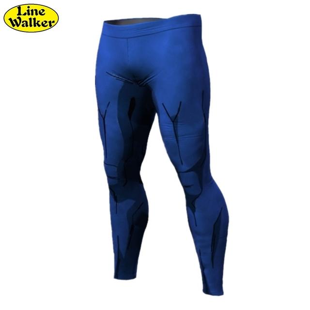 \ Línea Walker \ 2016 Nuevos Mens compresión pantalones 3D Dragon Ball Z y Naruto culturismo flacos de Secado rápido leggings pantalones
