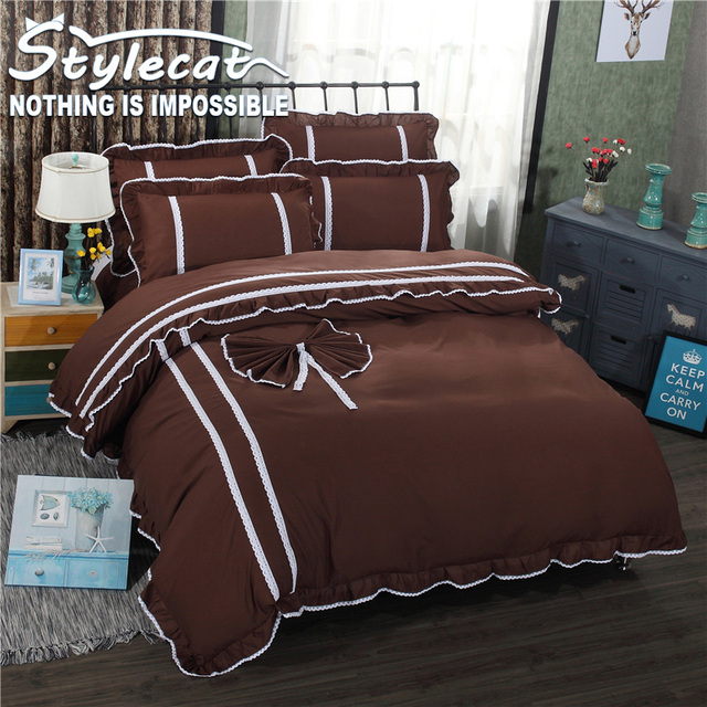 2017 Love Series Sheets Sets Bedding Set 4pcs Pink Rose Red Duvet Cover Bed  Sheet Set