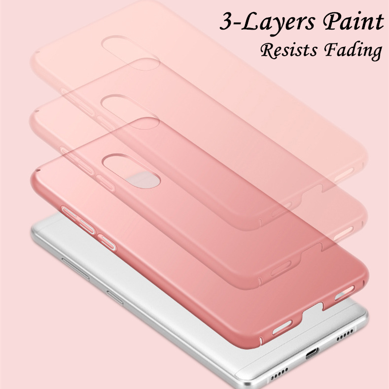 For Xiaomi Redmi Note 4X Case Ultra thin Smooth Hard PC Back Cover Funda Redmi Note 4X Protective Phone Case For Redmi Note 4X in Fitted Cases from Cellphones Telecommunications