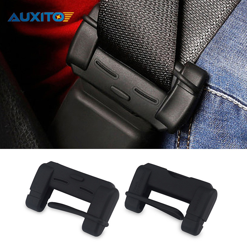 2x Car Seat Belt Buckle Covers For Audi VW BMW Ford Fiat Mazda Toyota Peugeot Benz Lexus Maserati Mitsubishi Mini cooper Toyota