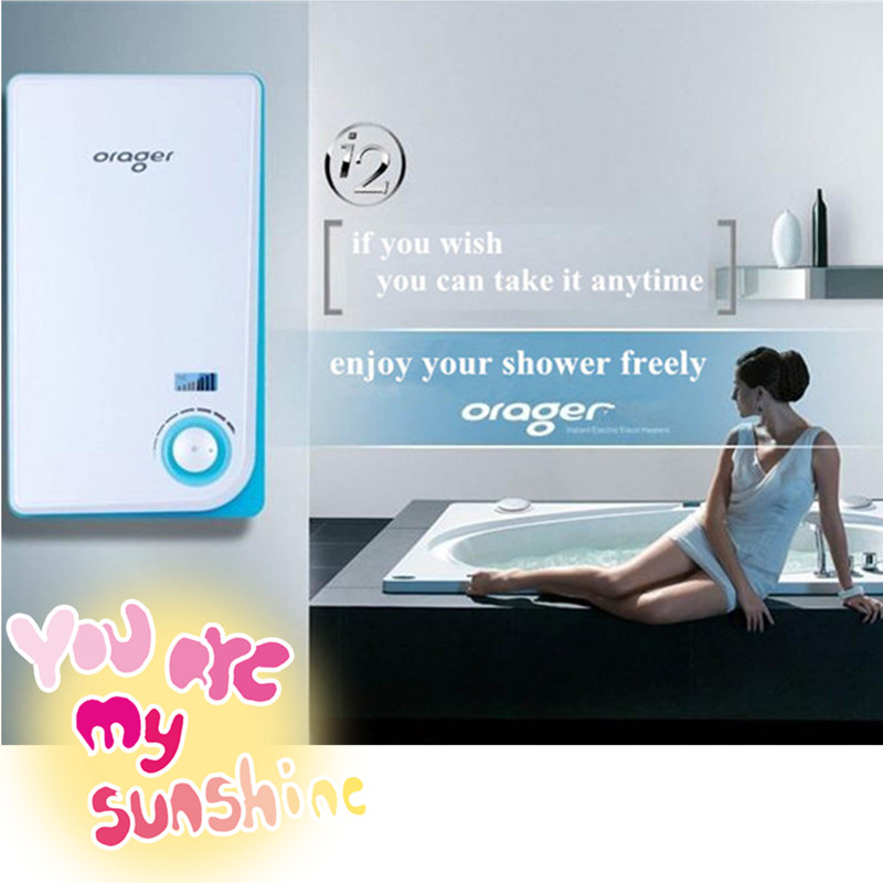 8500W Electric Tankless Instant Hot Bathroom Shower Water Heater LED Digital Display iphone Style Germany Heating Technology
