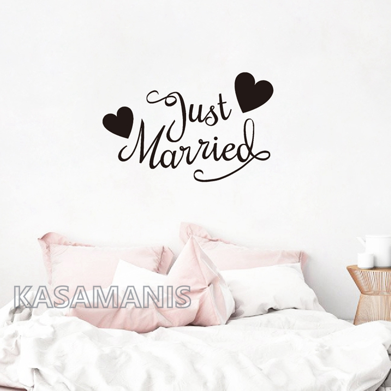 Wedding decor bedroom wall decals