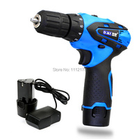 12V Electric Drill 2 Speed Waterproof Rechargeable Drill Cordless Screwdriver Tool Set Lithium 2 Battery Charger