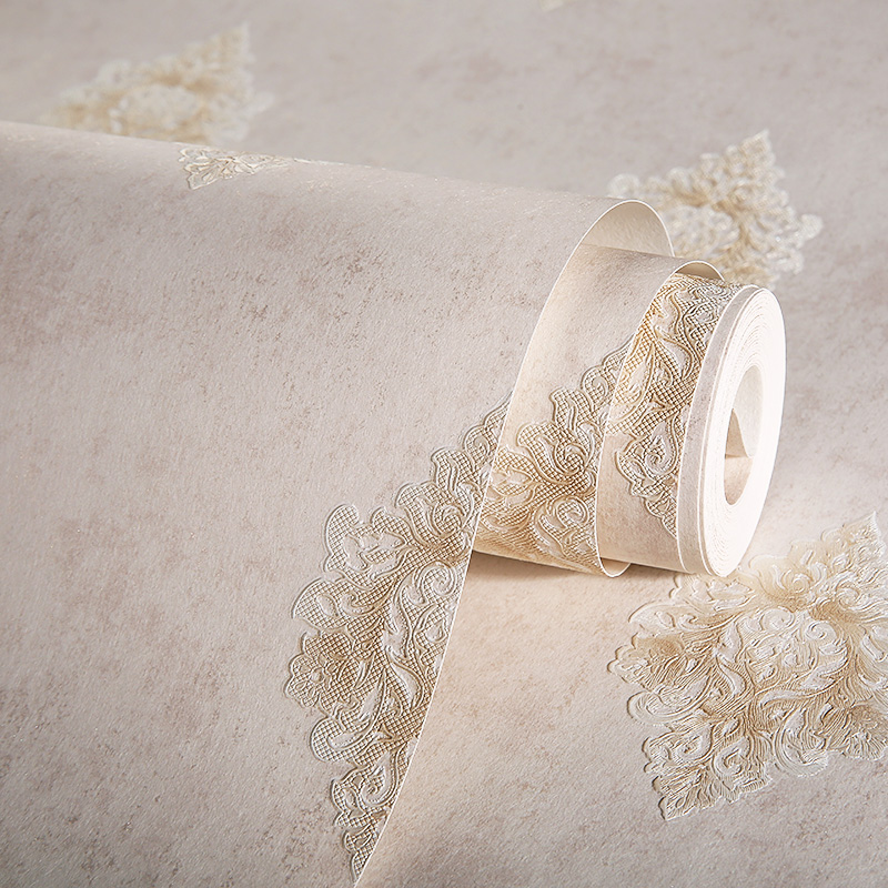 все цены на Vintage Damask Wallpaper Rolls for Walls 3D Light Brown papel de parede para quarto home decor living room онлайн