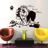 Home Swit Home Quote Dog Tools Pet Grooming Salon Pet Shop Wall Decal Removable Vinyl Art