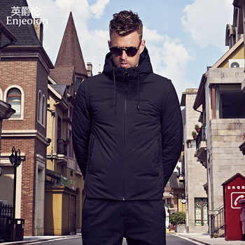 Enjeolon brand thicken winter down hooded jacket men light down coat for men hoodies parka coat 3XL down parka male YR2706 - DISCOUNT ITEM  0% OFF All Category