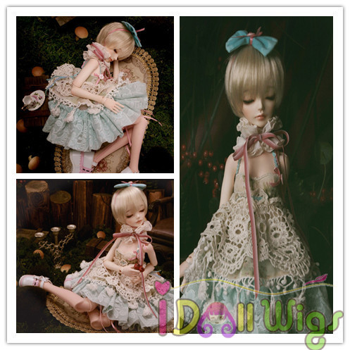 Free Shipping High quality synthetic blonde Short bob bjd doll wig 1/3 1/4 1/6 1/8 for choice free shipping high quality synthetic dark brown short wavy bjd hair wig finished boy style wig 1 3 1 4 1 6 bjd dolls for choice