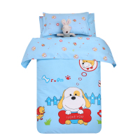 Lovely Cartoon Children Bedding Sets 3 Pcs 100 Cotton Duvet Cover Bedspread Pillowcase For Boy Girl
