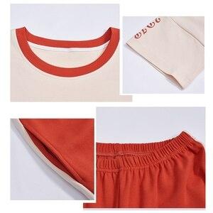 Image 5 - Große Yards XXL Frauen Pyjamas Sets 100% Baumwolle Nachtwäsche Frühling Sommer Kurzarm Pyjamas Oansatz Nachtwäsche Weibliche Pijamas Mujer