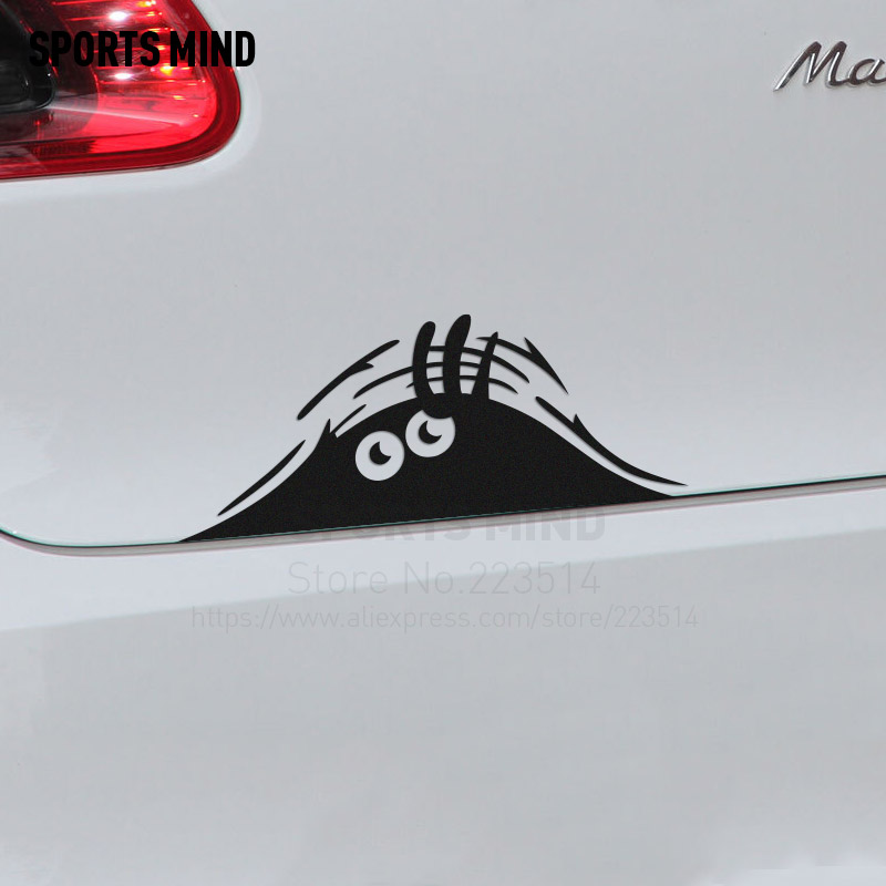 10 Pieces SPORTS MIND Funny hidden devil Automobiles Waterproof Car-Styling Reflective vinyl Car Sticker Decal For All Car