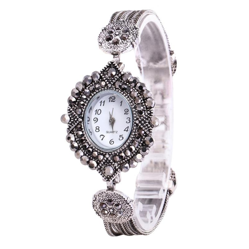 Duobla Vente Chaude De Mode De Luxe Femmes Full Diamond Bracelet Montre Watch Crystal Stainless Steel Women Watches Luxury 30Q