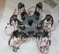 1 компл. алюминий гексапод паук шесть 3DOF ноги робот рамка комплект полностью совместим с Arduino