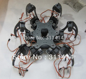 1set Aluminium Hexapod Spider Six 3DOF Legs Robot Frame Kit Fully Compatible with Arduino