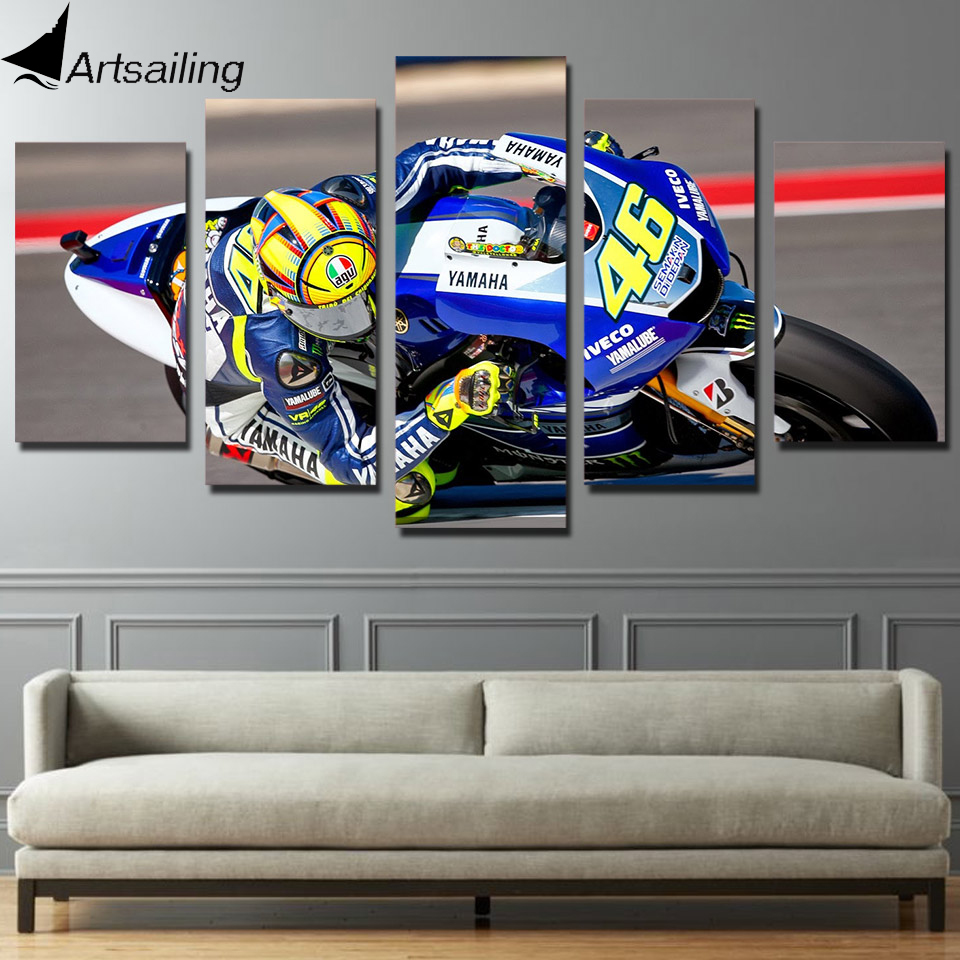 HD Printed race moto Pictura Canvas Print Room decor print poster picture canvas Transport gratuit / cu-349