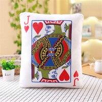 Creative Seat Cushion Poker Card Pillow Decorative Home Decor Sofa Chair Throw Pillows Decorative Pillow Cushions