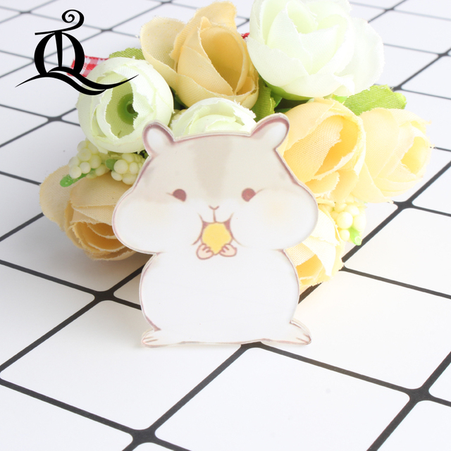 mix 1PC Shirt Cute Cartoon brooch Acrylic Badge Pins Bag Pack bag Decoration panda Animal dog cat fruit Brooch badge,No80