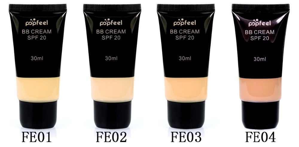 4 Pcs/set BB Cream Matte Liquid Foundation Concealer Pelembab Pemutih Wajah Kontur Bintik Menghapus Anti-Wrinkle Makeup