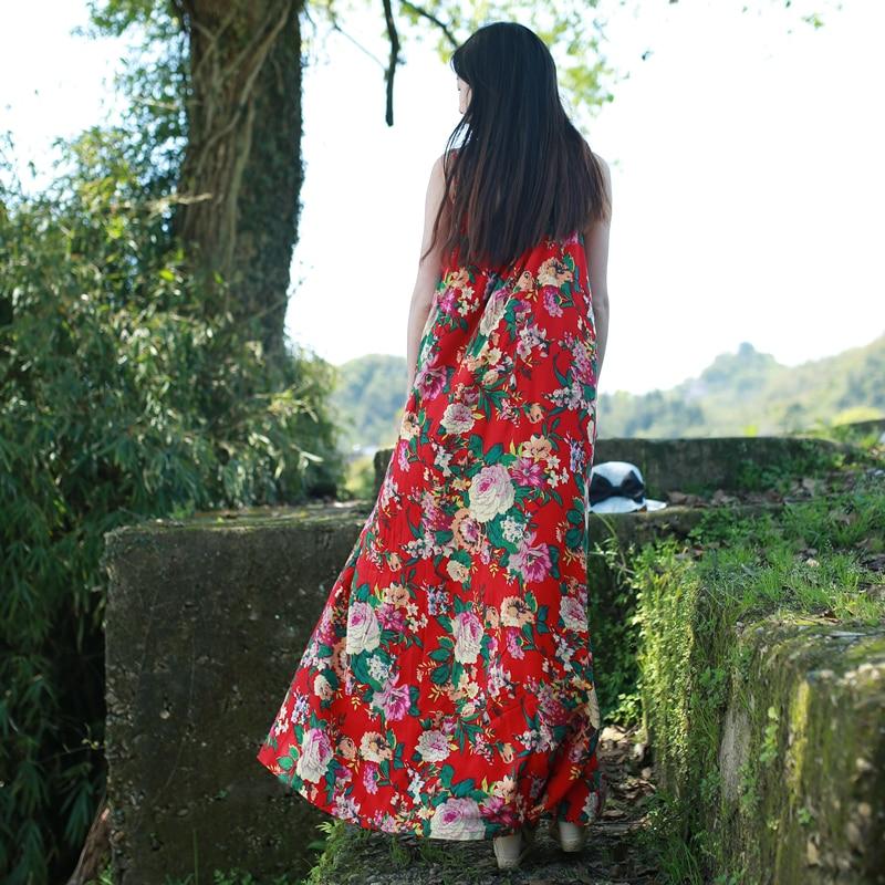 LZJN Original Maxi Slip Dress 2019 Ljetni Sarafan Pamučno posteljina - Ženska odjeća - Foto 2