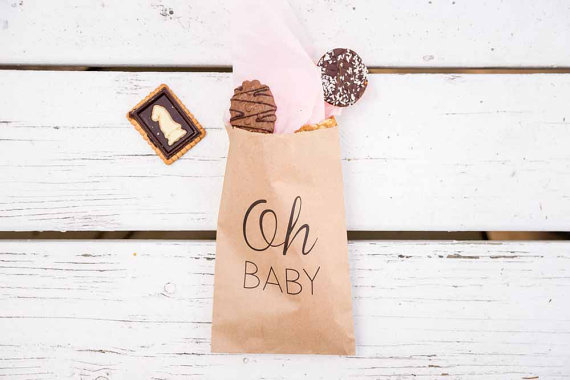 b44198458b16 custom oh baby popcorn candy Buffet treat bags BIRTHDAY Wedding Bridal baby  Shower Bakery Cookie gift Favors pouches-in Gift Bags   Wrapping Supplies  from ...