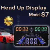5 8 Large Screen Car Speed Projector OBDII GPS Two Systems Head Up Display Speedmeters Overspeed