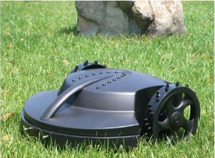 O mais barato cortador de escova/robô jardim cortador de grama + controle remoto + bateria chumbo-ácido + automático recharged + frete grátis