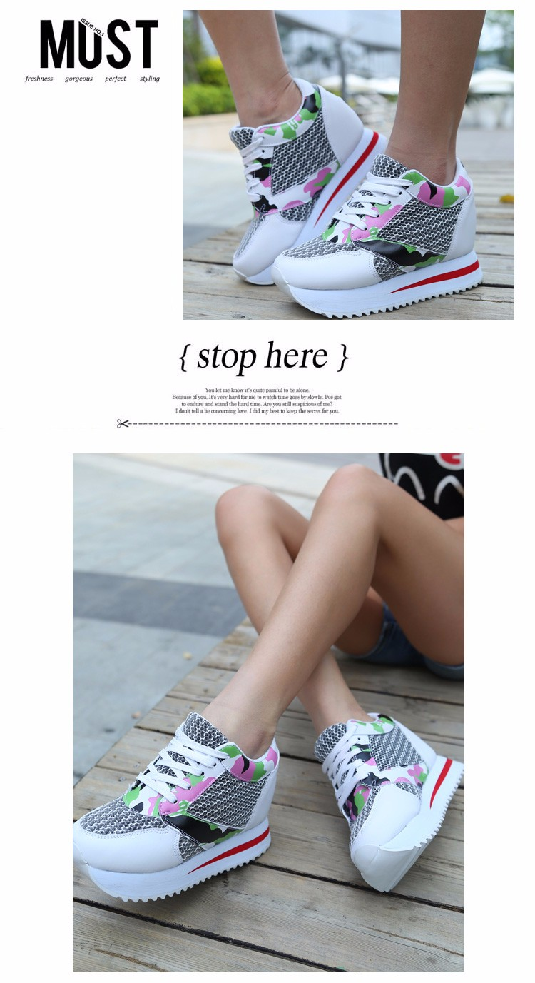 KUYUPP 2016 Fashion 4cm Hide Heels Women Casual Shoes New Breathable Mesh Flat Platform Women Shoes High Top Wedges Shoes YD108 (17)