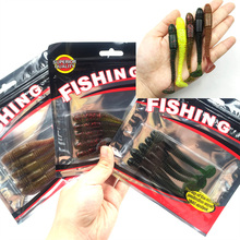 5Pcs/lot Newest Soft Fishing Lures Bait 8.5cm 4.85g smell Artificial Fake Bait Free shipping 088