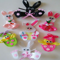 Bundle Monster 18pc Girl Baby Toddler Ribbon Bows Flowers Mixed Design Hair Clip Free Shipping